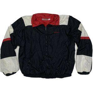 Advantage By Wilson Windbreaker Jacket Large Nylon